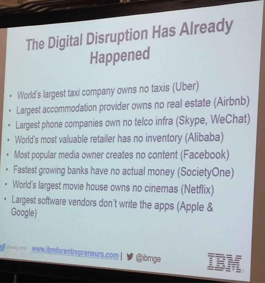 disruption is already happening